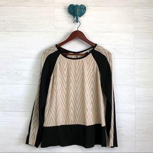 RACHEL Rachel Roy Color Block Texture Knit Blouse